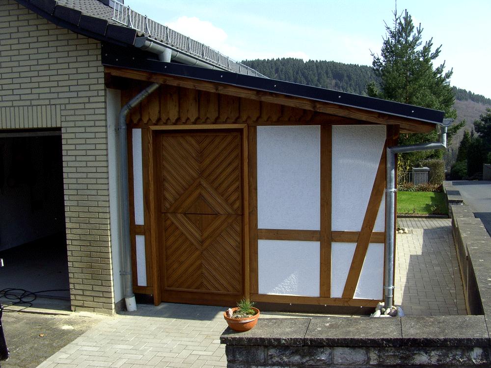 Holz Türe Nebentüre Fachwerk