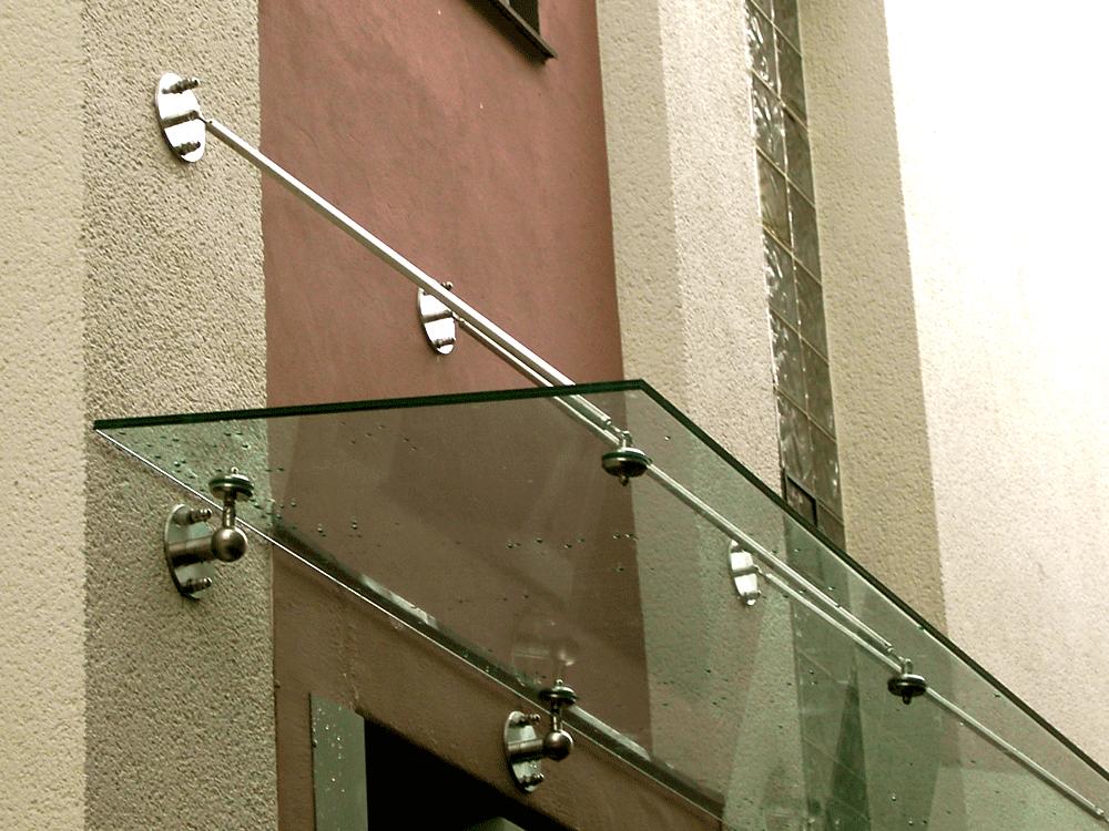 Dach Glas Haustüre